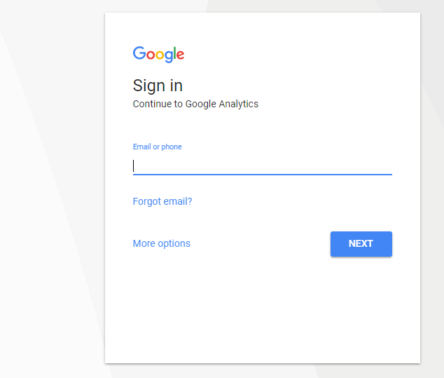 How to log in Google Analytics