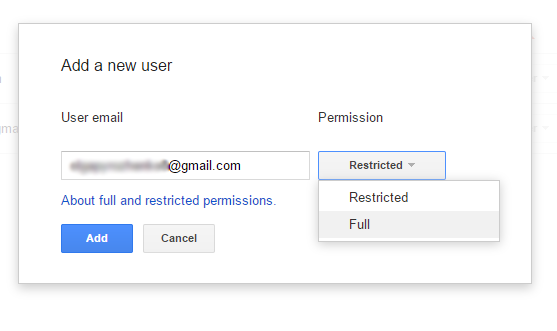Two permission levels in Google Webmaster